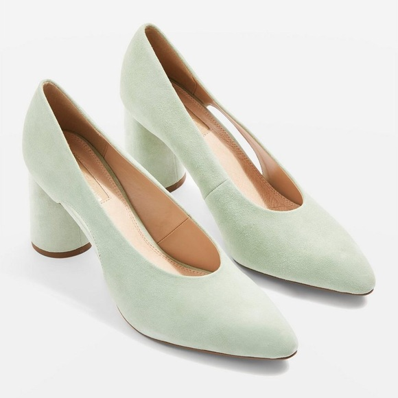 17967cfb30e8 Topshop Ginger Leather Court Heel 7.5